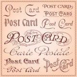 Uitstekende prentbriefkaar het van letters voorzien vector Royalty-vrije Stock Foto's