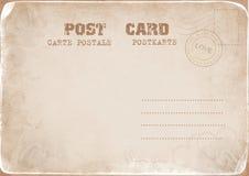 Uitstekende prentbriefkaar met een zegel van Liefde Royalty-vrije Stock Fotografie