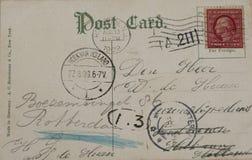Uitstekende prentbriefkaar van 1909 stock fotografie