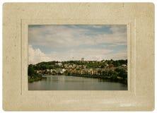 Uitstekende prentbriefkaar voor de stad van Trondheim, Noorwegen Royalty-vrije Stock Foto's