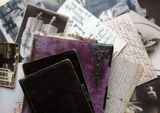 Uitstekende prentbriefkaaren Royalty-vrije Stock Foto's