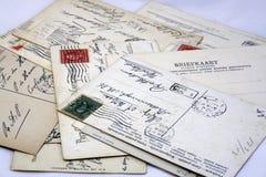 Uitstekende prentbriefkaaren stock afbeeldingen
