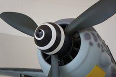 Uitstekende propellervliegtuigen met ongebruikelijk ontwerp stock fotografie