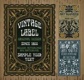Uitstekende punten: etiket Art Nouveau stock foto's