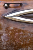 Uitstekende Rat Rod Classic Car Door Vertical Royalty-vrije Stock Foto's