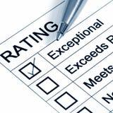 Uitstekende Rating Stock Foto