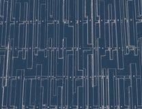 Uitstekende rechthoek op blauwe achtergrond Royalty-vrije Stock Fotografie