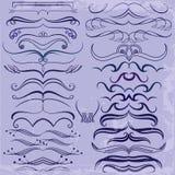 Uitstekende Reeks kalligrafische elementen voor ontwerp Stock Foto