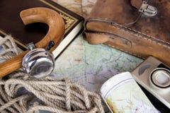 Uitstekende reisachtergrond Royalty-vrije Stock Foto