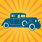 Uitstekende retro auto Royalty-vrije Stock Afbeelding