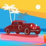 Uitstekende retro autoachtergrond Royalty-vrije Stock Fotografie
