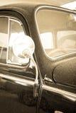 Uitstekende retro blauwe auto Stock Foto