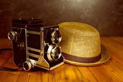 Uitstekende retro camera royalty-vrije stock foto