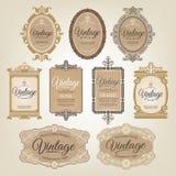 Uitstekende Retro Etiketten Royalty-vrije Stock Afbeeldingen