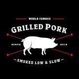 Uitstekende Retro Geroosterde Varkensvleesverbinding Stock Afbeelding