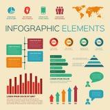 uitstekende retro infographicselementen Royalty-vrije Stock Afbeeldingen