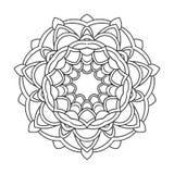 Uitstekende retro siermandala Rond symmetrisch patroon royalty-vrije illustratie