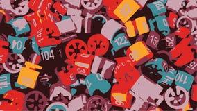 Uitstekende Retro van Grunge Abstracte Vector Als achtergrond Royalty-vrije Stock Foto
