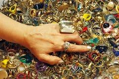 Uitstekende ringen royalty-vrije stock afbeelding