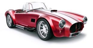 Uitstekende rode auto Stock Afbeeldingen