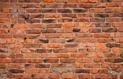 Uitstekende rode bakstenen muurachtergrond Royalty-vrije Stock Afbeeldingen