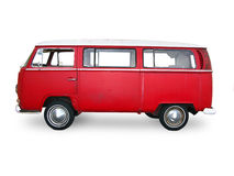 Uitstekende rode bestelwagen Stock Foto