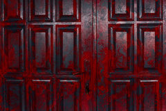 Uitstekende rode deur Royalty-vrije Stock Fotografie