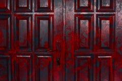 Uitstekende rode deur Stock Foto