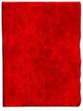 Uitstekende Rode gekraste leertextuur Stock Foto