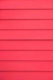Uitstekende rode houten textuurachtergrond van huismuur Stock Afbeelding