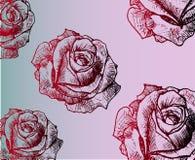 Uitstekende rode textuur - nam gradiënt, lijnenart. toe Royalty-vrije Stock Afbeeldingen
