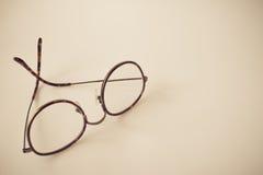Uitstekende ronde oogglazen, uitstekende stijl royalty-vrije stock afbeelding