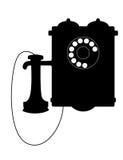 Uitstekende roterende telefoon met een mondstuk vector illustratie