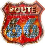 Uitstekende route 66 teken, royalty-vrije illustratie