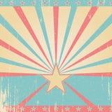 Uitstekende roze en blauwe achtergrond Stock Afbeelding