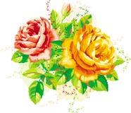 Uitstekende rozen Royalty-vrije Stock Afbeeldingen
