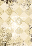 Uitstekende rozen op geregelde grunge achtergrond Stock Afbeelding