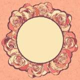 Uitstekende rozenornamenten Royalty-vrije Stock Foto