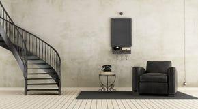 Uitstekende ruimte met trap royalty-vrije illustratie