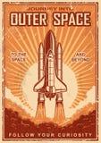 Uitstekende ruimteaffiche met pendel vector illustratie