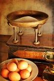 Uitstekende schalen en ingrediënten Stock Foto