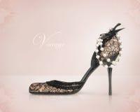 Uitstekende schoen royalty-vrije stock afbeelding