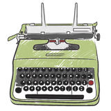 Uitstekende schrijfmachine royalty-vrije illustratie