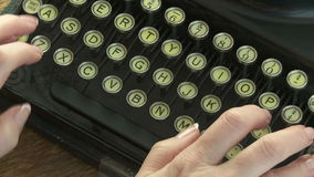 Uitstekende Schrijfmachine stock video