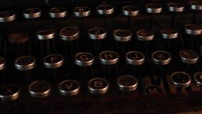 Uitstekende Schrijfmachine stock footage