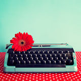 Uitstekende Schrijfmachine stock foto's