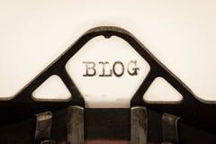 Uitstekende schrijfmachineclose-up Stock Foto's