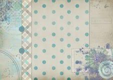 Uitstekende scrapbooking kaart met pastelkleurtonen met een inschrijving Stock Foto's