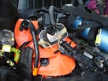 Uitstekende scuba-uitrusting Royalty-vrije Stock Foto