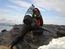 Uitstekende scuba-uitrusting Stock Foto